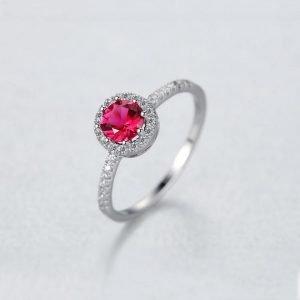 """Сребърен пръстен """"Рубин"""""""