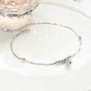 """Silver foot bracelet """"Mercy"""""""