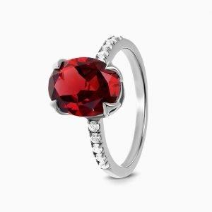 """Сребърен пръстен """"Гранат"""""""