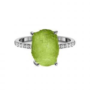 """Сребърен пръстен """"Перидот"""""""